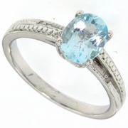1.66ctw Sky Topaz and Diamond Ring in Sterling Silver