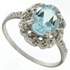 3.21ctw Sky Topaz and Diamond Ring in Sterling Silver