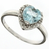 1.26 Sky Topaz and Diamond Ring in Sterling Silver