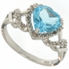 2.23ctw Sky Topaz and Diamond Ring in  Sterling Silver