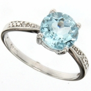 2.00ctw Sky Topaz Solitaire Ring in Sterling Silver