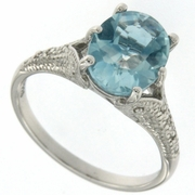 3.20ctw Sky Topaz Ring in Sterling Silver