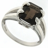 3.00ctw Smoky Topaz Ring in Sterling Silver