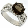 3.50ctw Smoky Topaz Ring in Sterling Silver
