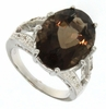 12.01ctw Smoky Topaz Ring in Sterling Silver