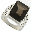 12.60ctw Smoky Topaz Ring in Sterling Silver