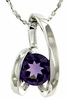 "0.73ctw Amethyst Pendant in Sterling Silver with 18"" Chain"