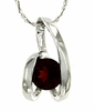 "1.00ctw Garnet Pendant in Sterling Silver with 18"" Chain"