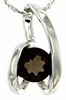 "0.71ctw Smokey Quartz Pendant in Sterling Silver with 18""Chain"