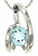 """0.96ctw Sky Topaz Pendant in Sterling Silver with 18"""" Chain"""