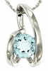 "0.96ctw Sky Topaz Pendant in Sterling Silver with 18"" Chain"