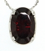 "4.60ctw Garnet Pendant in Sterling Silver with 18"" Chain"