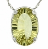 "2.78ctw Lemon Quartz Pendant in Sterling Silver with 18""Chain"