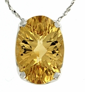 "5.75ctw Citrine Pendant in Sterling Silver with 18"" Chain"