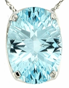 """7.33ctw Sky Topaz Pendant in Sterling Silver with 18"""" Chain"""