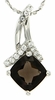 "1.38ctw Smokey Quartz Pendant in Sterling Silver with 18""Chain"