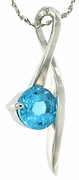 "1.52ctw Swiss Blue Topaz Pendant in Sterling Silver with 18"" Chain"