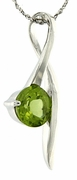 "1.44ctw Peridot Pendant in Sterling Silver with 18"" Chain"