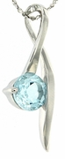 "1.63ctw Sky Topaz Pendant in Sterling Silver with 18"" Chain"