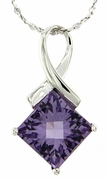 "2.39ctw Amethyst Pendant in Sterling Silver with 18"" Chain"