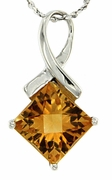 "2.41ctw Citrine Pendant in Sterling Silver with 18"" Chain"