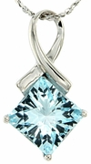"3.21ctw Sky Topaz Pendant in Sterling Silver with 18"" Chain"