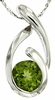 "1.45ctw Peridot Pendant in Sterling Silver with 18"" Chain"