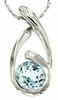 "1.61ctw Sky Topaz Pendant in Sterling Silver with 18"" Chain"