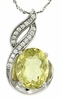 "2.46ctw Lemon Quartz Pendant in Sterling Silver with 18""Chain"