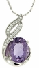 "2.46ctw Amethyst Pendant in Sterling Silver with 18"" Chain"