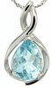 "1.40ctw Sky Topaz Pendant in Sterling Silver with 18"" Chain"