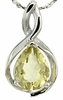"1.03ctw Lemon Quartz Pendant in Sterling Silver with 18""Chain"