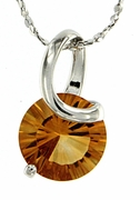 "1.97ctw Citrine Pendant in Sterling Silver with 18"" Chain"