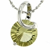 "1.97ctw Lemon Quartz Pendant in Sterling Silver with 18""Chain"