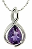 "0.94ctw Amethyst Pendant in Sterling Silver with 18"" Chain"