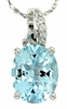 "3.29ctw Sky Topaz Pendant in Sterling Silver with 18"" Chain"