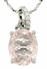 "2.39ctw Rose Quartz Pendant in Sterling Silver with 18""Chain"