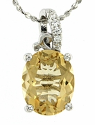 "2.65ctw Citrine Pendant in Sterling Silver with 18"" Chain"