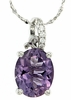 "2.38ctw Amethyst Pendant in Sterling Silver with 18"" Chain"