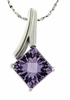 "2.40ctw Amethyst Pendant in Sterling Silver with 18"" Chain"