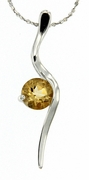 "1.05ctw Citrine Pendant in Sterling Silver with 18"" Chain"