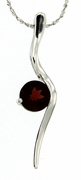 "1.69ctw Garnet Pendant in Sterling Silver with 18""Chain"