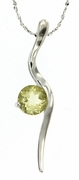 "1.26ctw Lemon Quartz Pendant in Sterling Silver with 18""Chain"