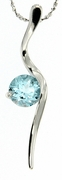 "1.50ctw Sky Topaz Pendant in Sterling Silver with 18"" Chain"