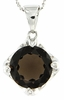 "6.07ctw Smokey Quartz Pendant in Sterling Silver with 18"" Chain"