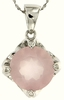"6.07ctw Rose Quartz Pendant in Sterling Silver with 18"" Chain"