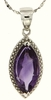 "2.94ctw Amethyst Pendant in Sterling Silver with 18"" Chain"