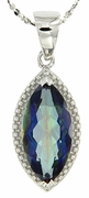 "2.94ctw Mystic Iolite Blue Pendant in Sterling Silver with 18"" Chain"