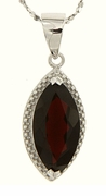 "2.94ctw Garnet Pendant in Sterling Silver with 18"" Chain"