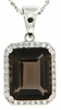 "5.41ctw Smokey Quartz Pendant in Sterling Silver with 18"" Chain"
